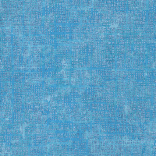 Pearl Grid L8089-70 Sky (with Gold Metallic Accent)
