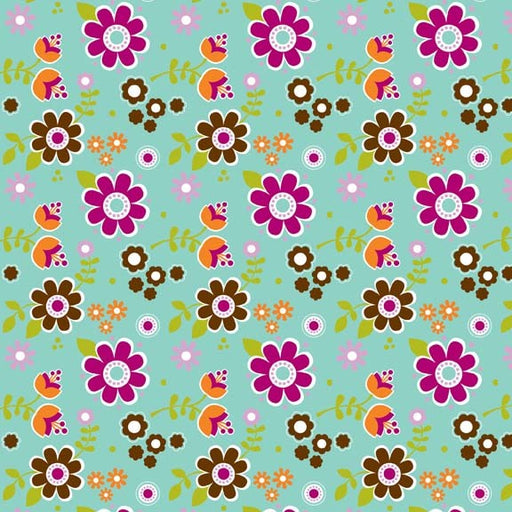 Little Matryoshka Floral C3311-Aqua