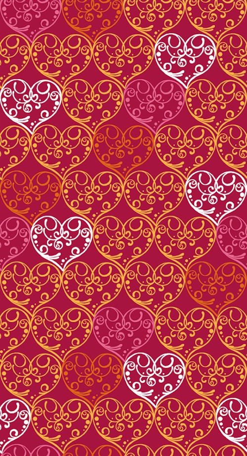 Love Bugs Scrolled Hearts 24240-R Red