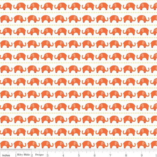 Oh Boy! Elephants F3301-Orange