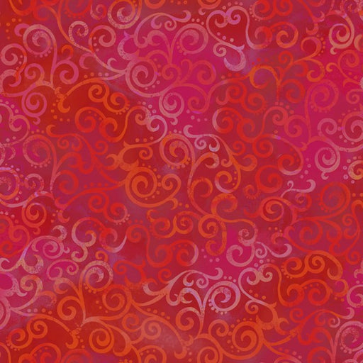 Ombré Scrolls 24174-R Cherry Red