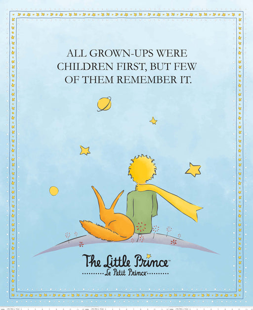 The Little Prince Digital Print Panel PD-6796 Aqua
