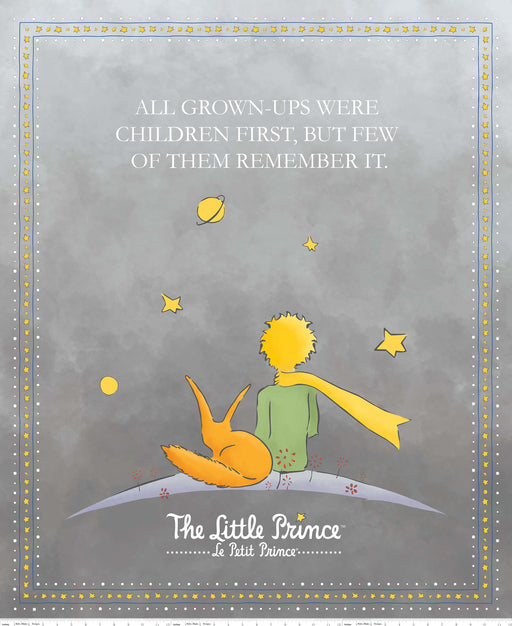 The Little Prince Digital Print Panel PD-6796 Gray