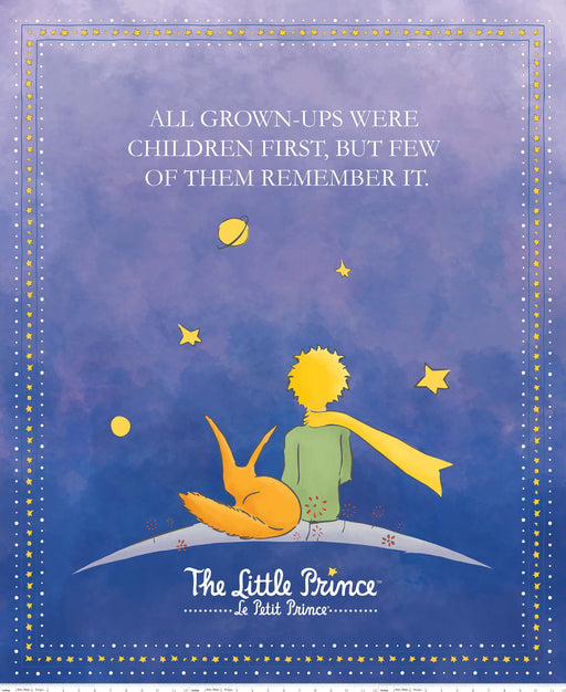 The Little Prince Digital Print Panel PD-6796 Navy