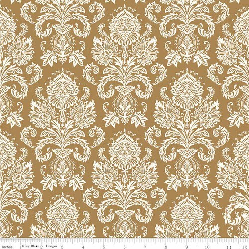 Postcards for Santa Damask Sparkle SC4752-Gold