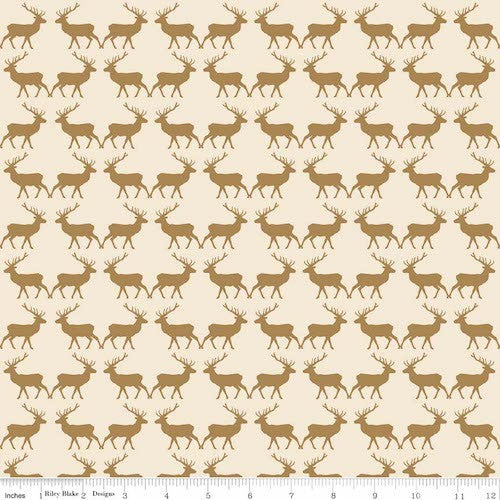 Postcards for Santa Deer Sparkle SC4753-Gold