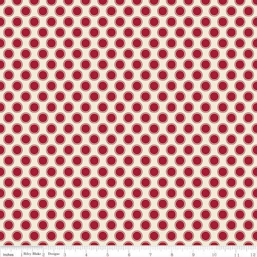 Postcards for Santa Dots C4754-Red