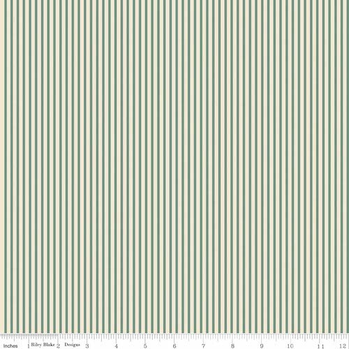 Postcards for Santa Stripes C4756-Green