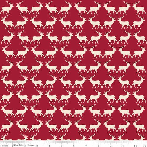 Postcards for Santa Deer C4753-Red