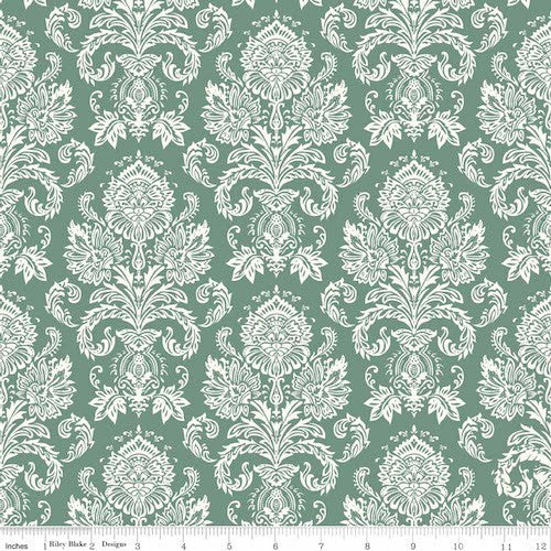 Postcards for Santa Damask C4752-Green