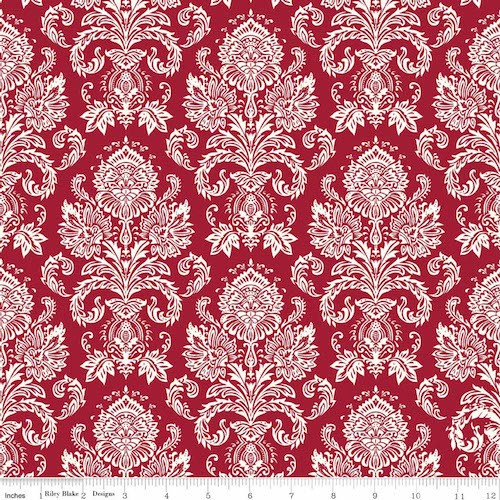Postcards for Santa Damask C4752-Red
