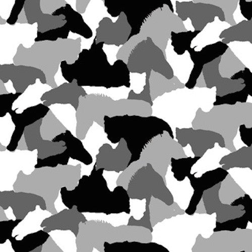Serengeti Tree Camouflage 7327-95 Black/White