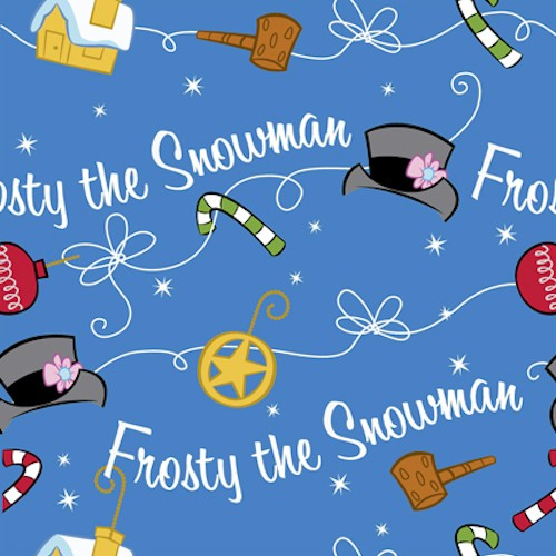 Silly Snowman Frosty Icon Toss 23958-Y Medium Royal