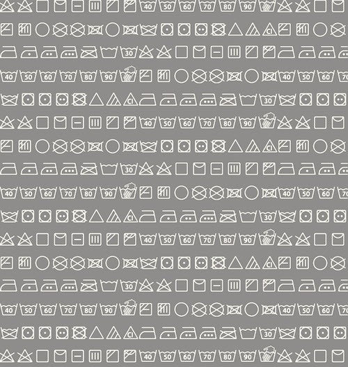 Small Talk Wash Symbols 3143-90 Grey