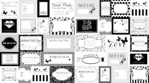 Small Talk Labels 3140P-99 Black