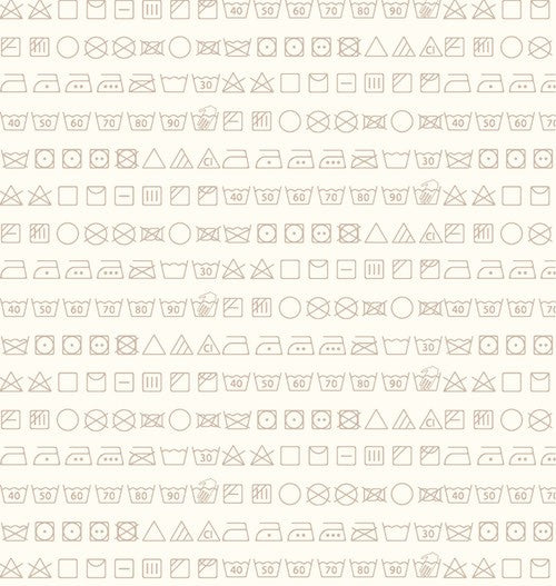 Small Talk Wash Symbols 3143-33 Tan