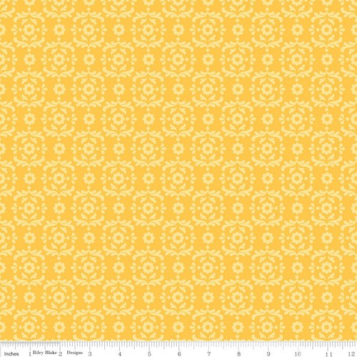 Summer Song 2 Damask C4624-Yellow