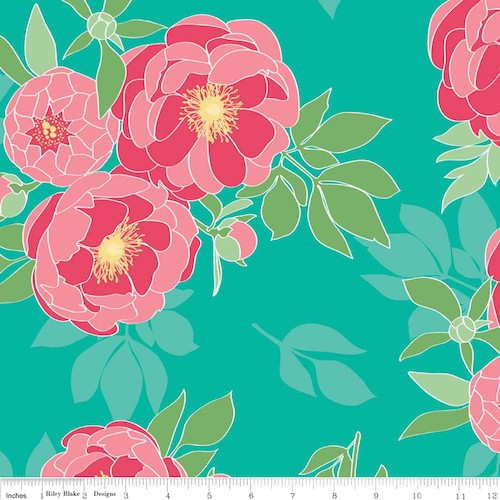 The Cottage Garden Main C4220-Teal