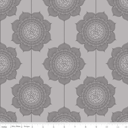 The Cottage Garden Wallpaper C4222-Gray