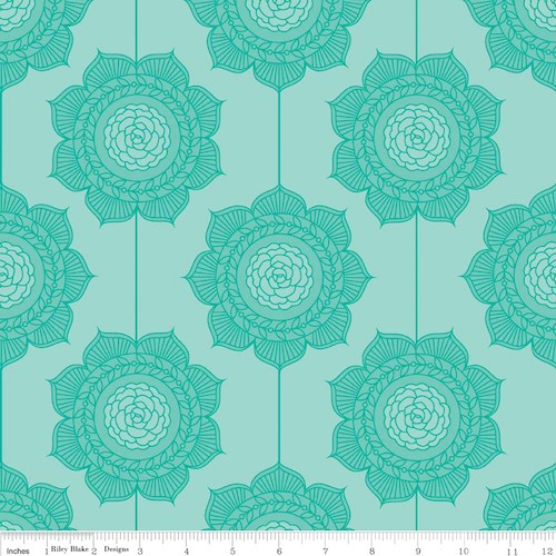 The Cottage Garden Wallpaper C4222-Teal
