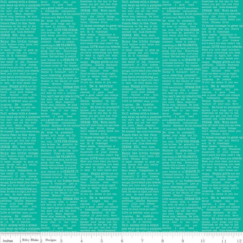 The Cottage Garden Newsprint C4224-Teal