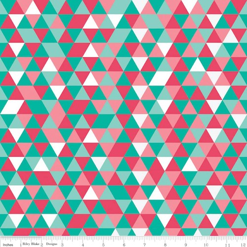The Cottage Garden Triangles C4225-Teal