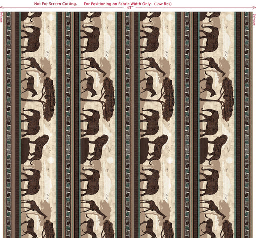 Wisdom of the Plains Safari Scenic Stripe 24280-A Brown