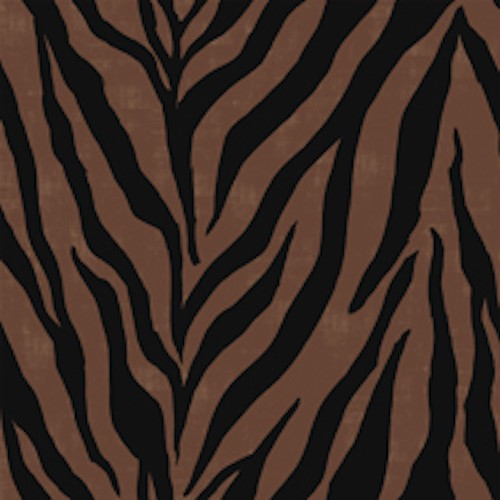 Wisdom of the Plains Zebra Print 24283-A Brown
