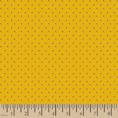 "Small Wonders: World Piece - ""France"" Mustard Ditsy 57047-A640715"