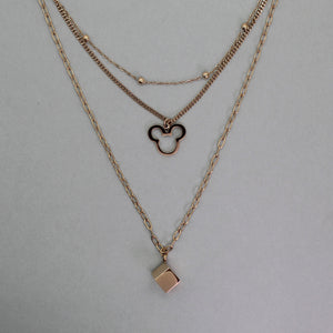 Cadena rose gold triple MICKEY