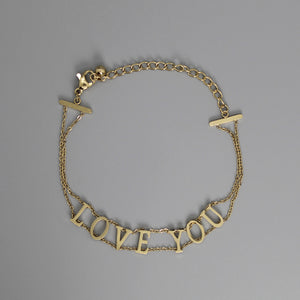 Brazalete gold LOVE YOU