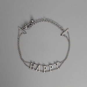 Brazalete silver HAPPY