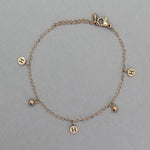 Brazalete rose gold con H