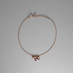Tobillera rose gold con corazon