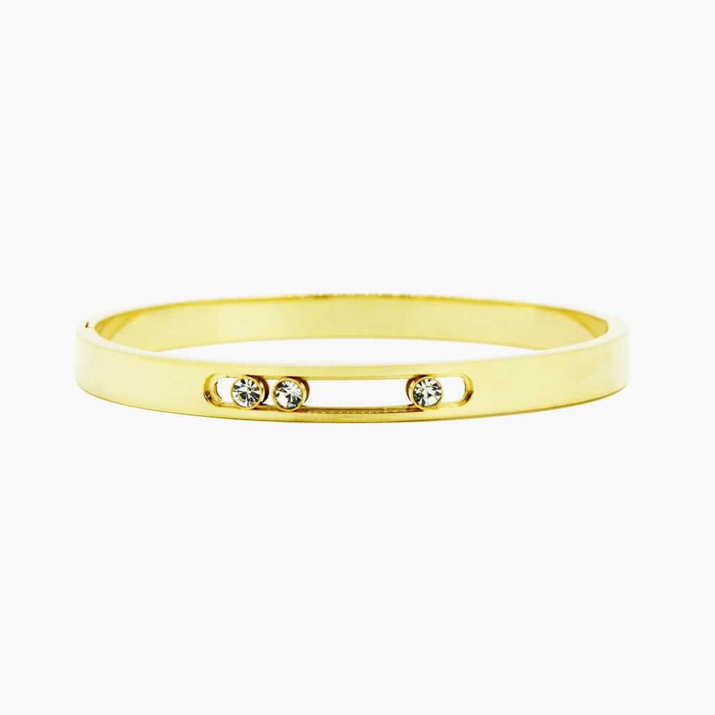 Brazalete gold bangle circones