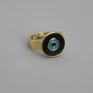 Anillo lucky eye negro