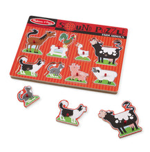 Melissa & Doug Farm Animals Sound Puzzle - 8 Pieces