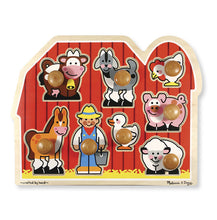 Melissa & Doug: Large Farm Jumbo Knob Puzzle - 8 pieces