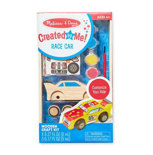 Melissa & Doug Decorate-Your-Own Wooden Race Car