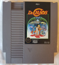NES Dr. Chaos Cartridge, Case, and Replacement Manual Insert