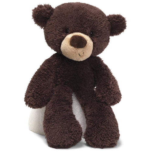 GUND Fuzzy Chocolate Brown Teddy Bear, 13.5