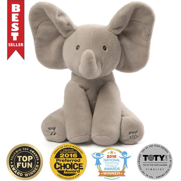 GUND Baby Animated Flappy The Elephant Plush Toy, 12