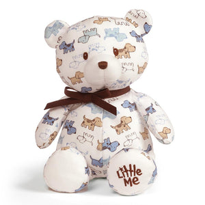 "GUND Little Me Puppy Pattern Teddy Bear, 10"" Plush"