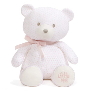 "Little Me Prima Ballerina Footie Pajama, Hat, and GUND Polka Dot Pink and White 10"" Teddy Bear Plush"