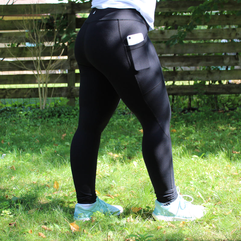 Classic Black Leggings (With Pockets)