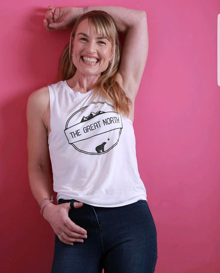 Womans Scoop Neck Muscle Shirt
