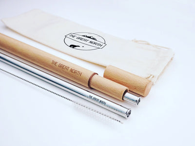 Eco Metal Straw Pack