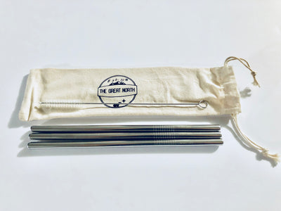 Eco-Friendly Metal Straw (3 PACK)