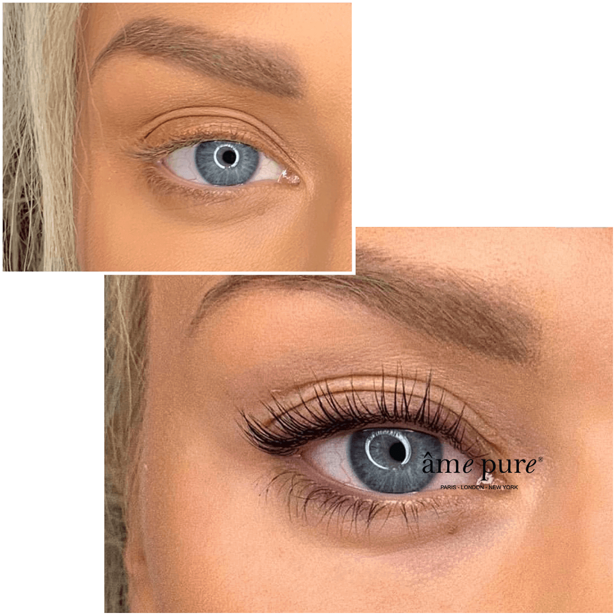Lisa before after âme pure Lash Serum