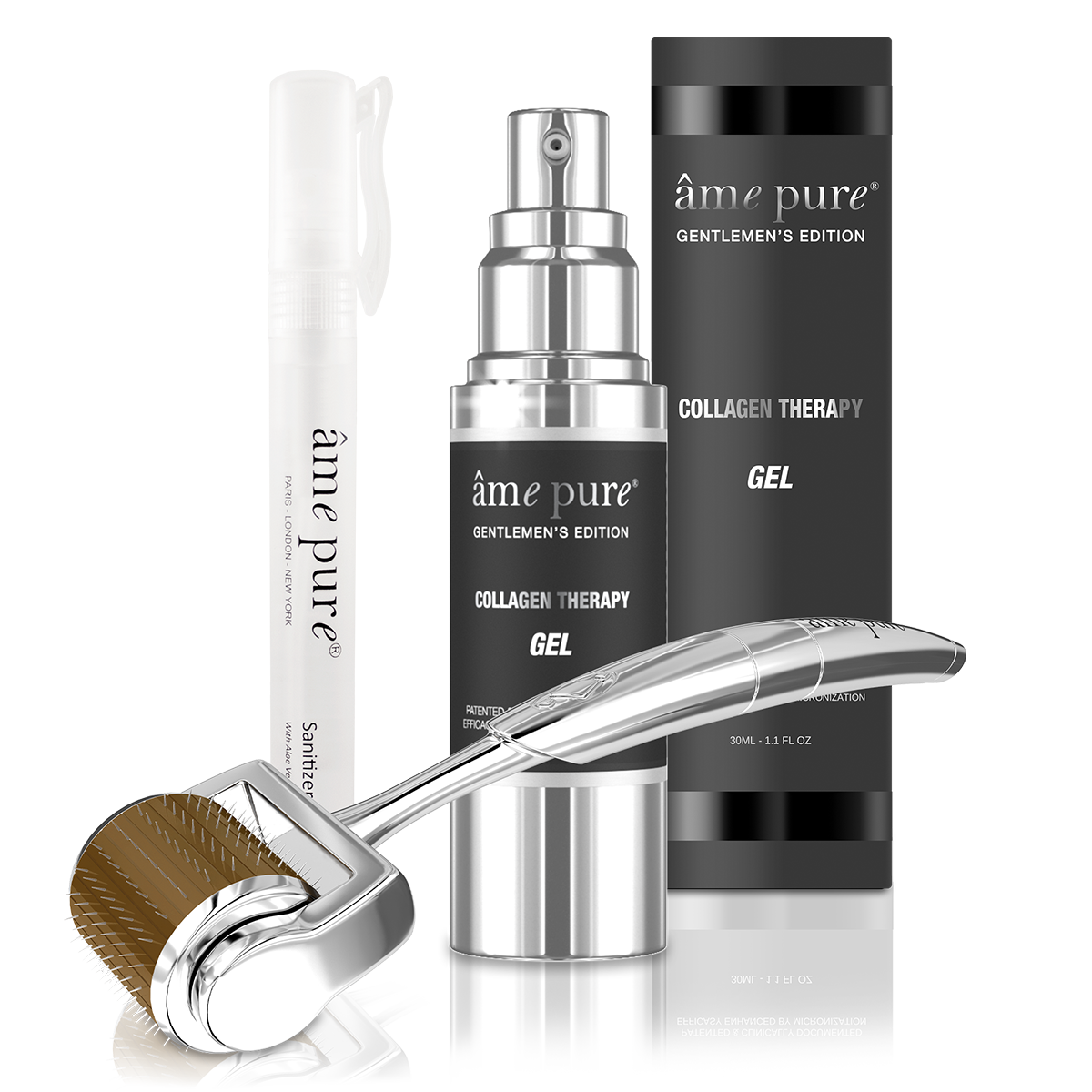 ame pure, face roller, dermaroller, skin product for man